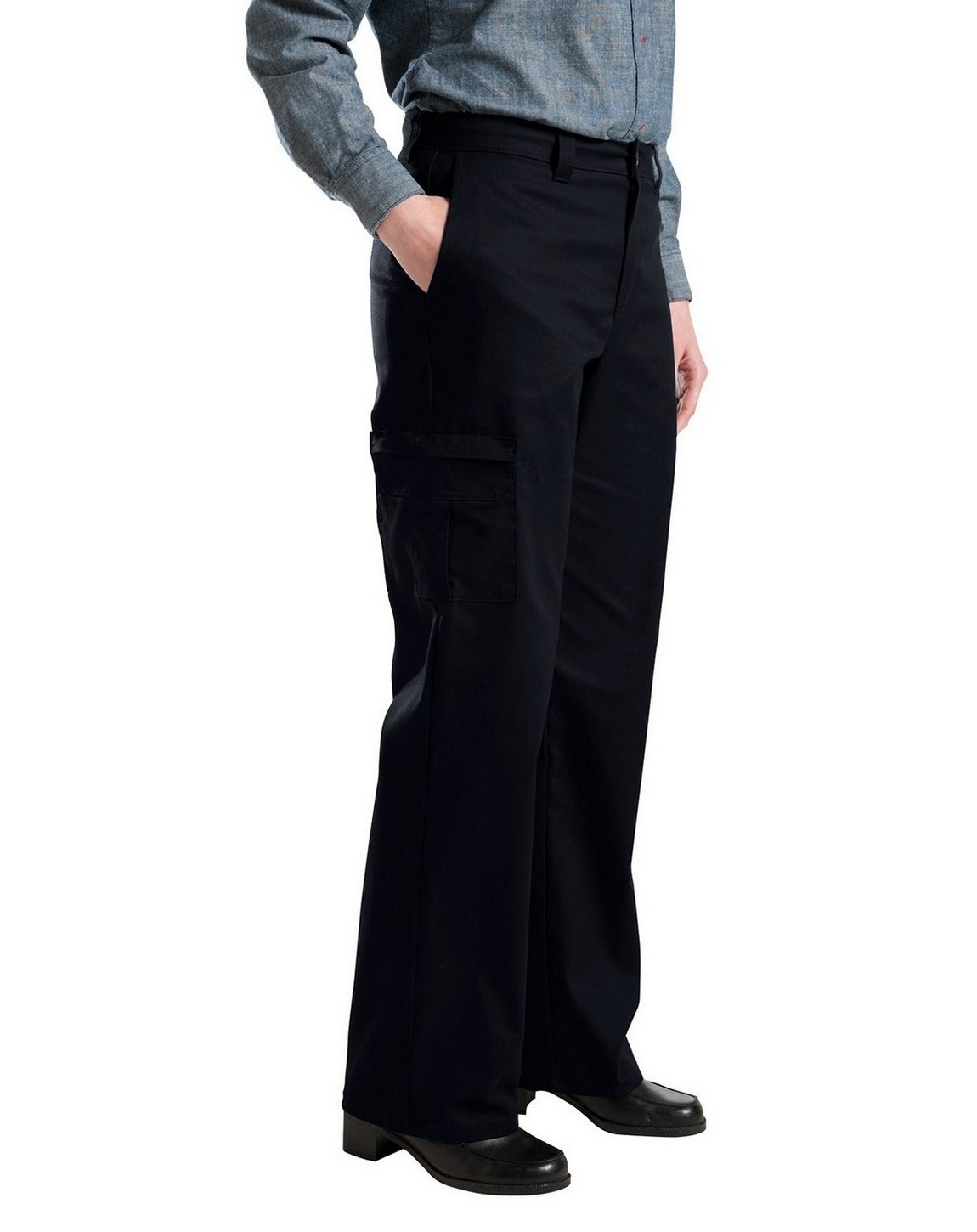 women s black pants with pockets photo - 2
