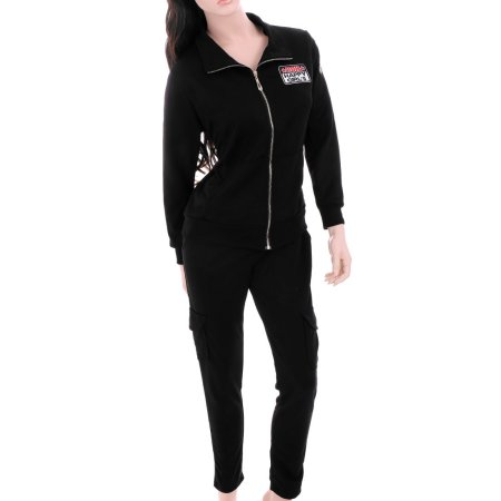 women s black pants with side closure photo - 2