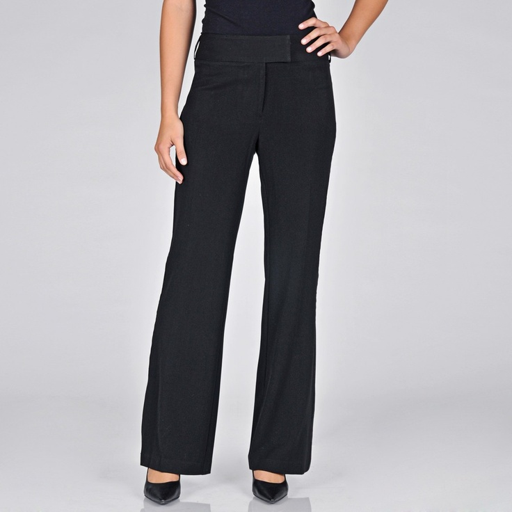 women s black tuxedo pants photo - 1