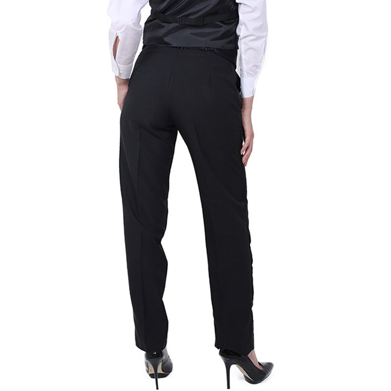 women s black tuxedo pants photo - 2