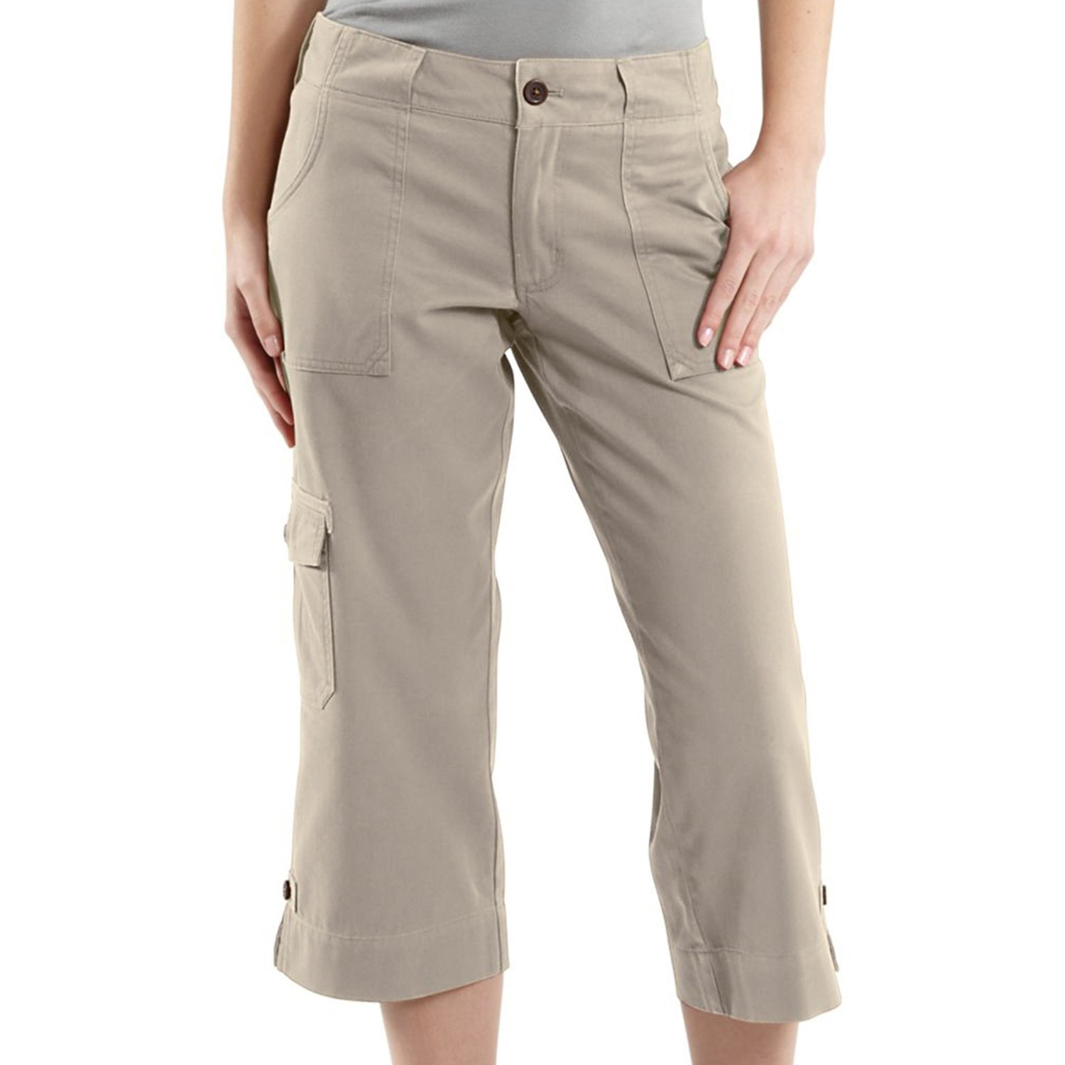 women s cropped cargo pants photo - 1