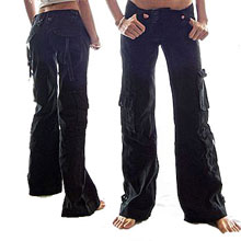 women s hipster cargo pants photo - 2