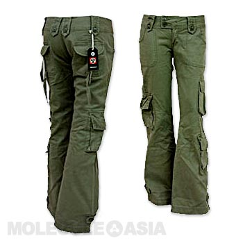 women s low rise cargo pants photo - 1