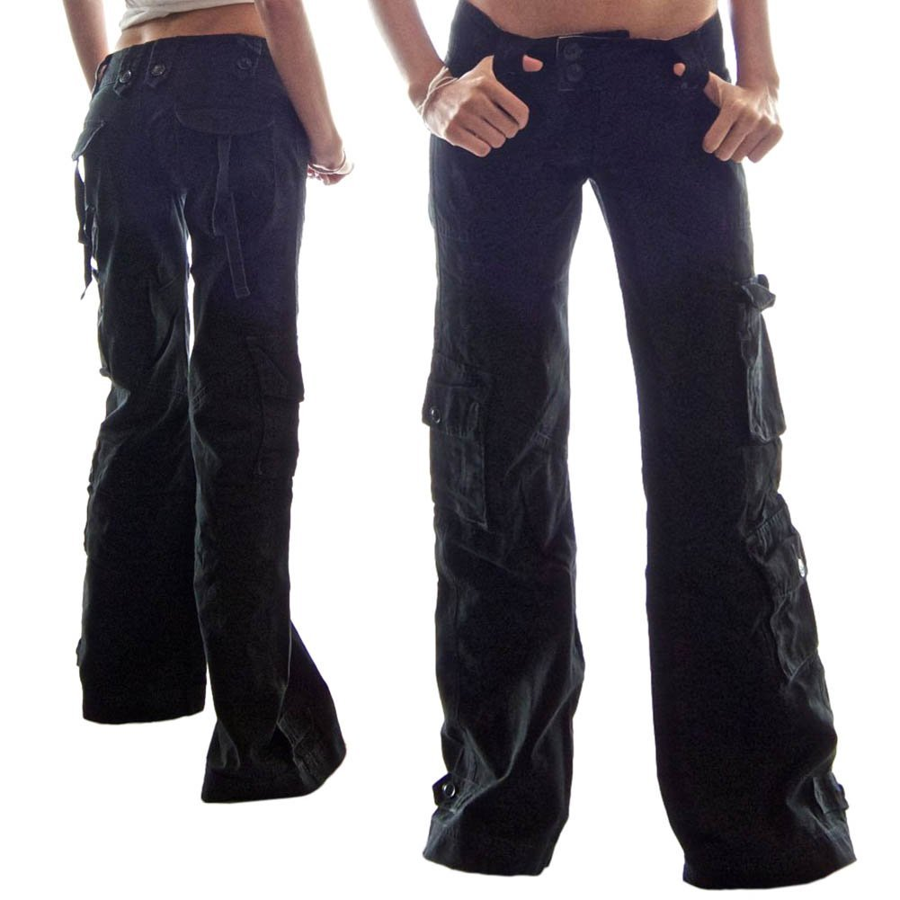 women s low rise cargo pants photo - 2
