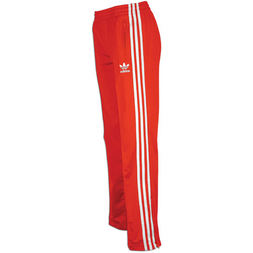 women s red adidas track pants photo - 2