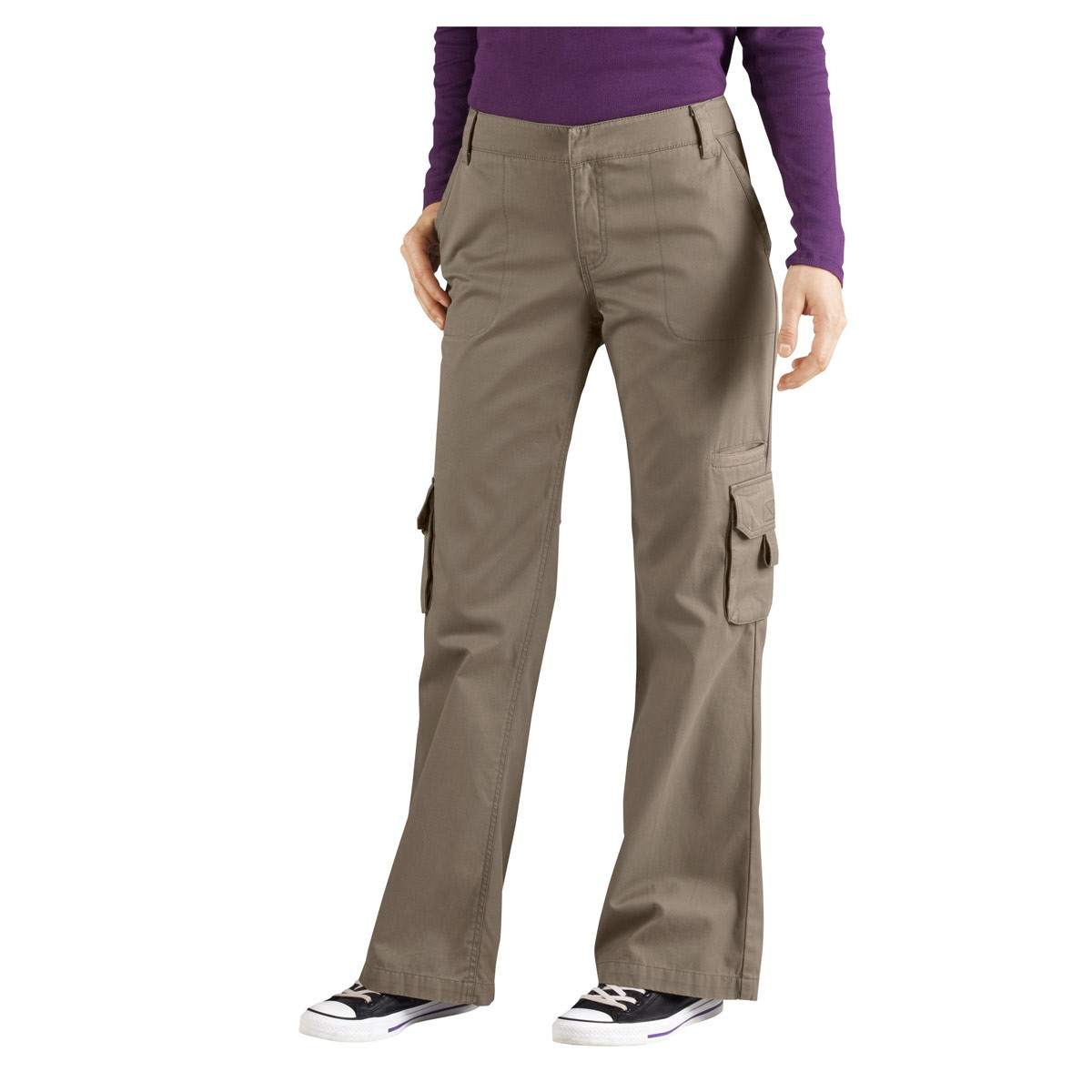 women s relaxed cargo pants photo - 2