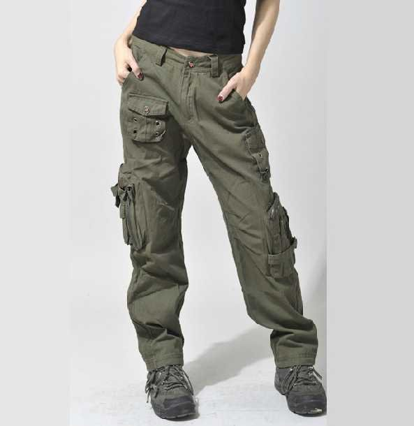 women s straight cargo pants photo - 1