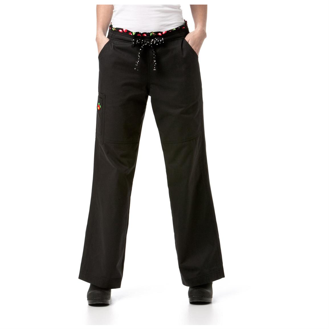 womens black cargo pants photo - 2