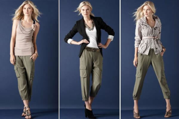 womens black cargo pants outfit photo - 2