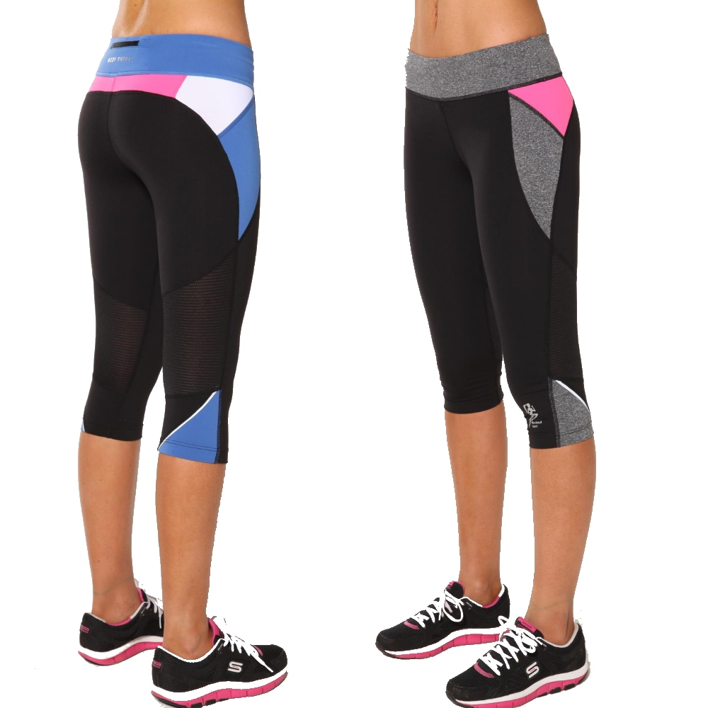 womens black exercise pants photo - 1