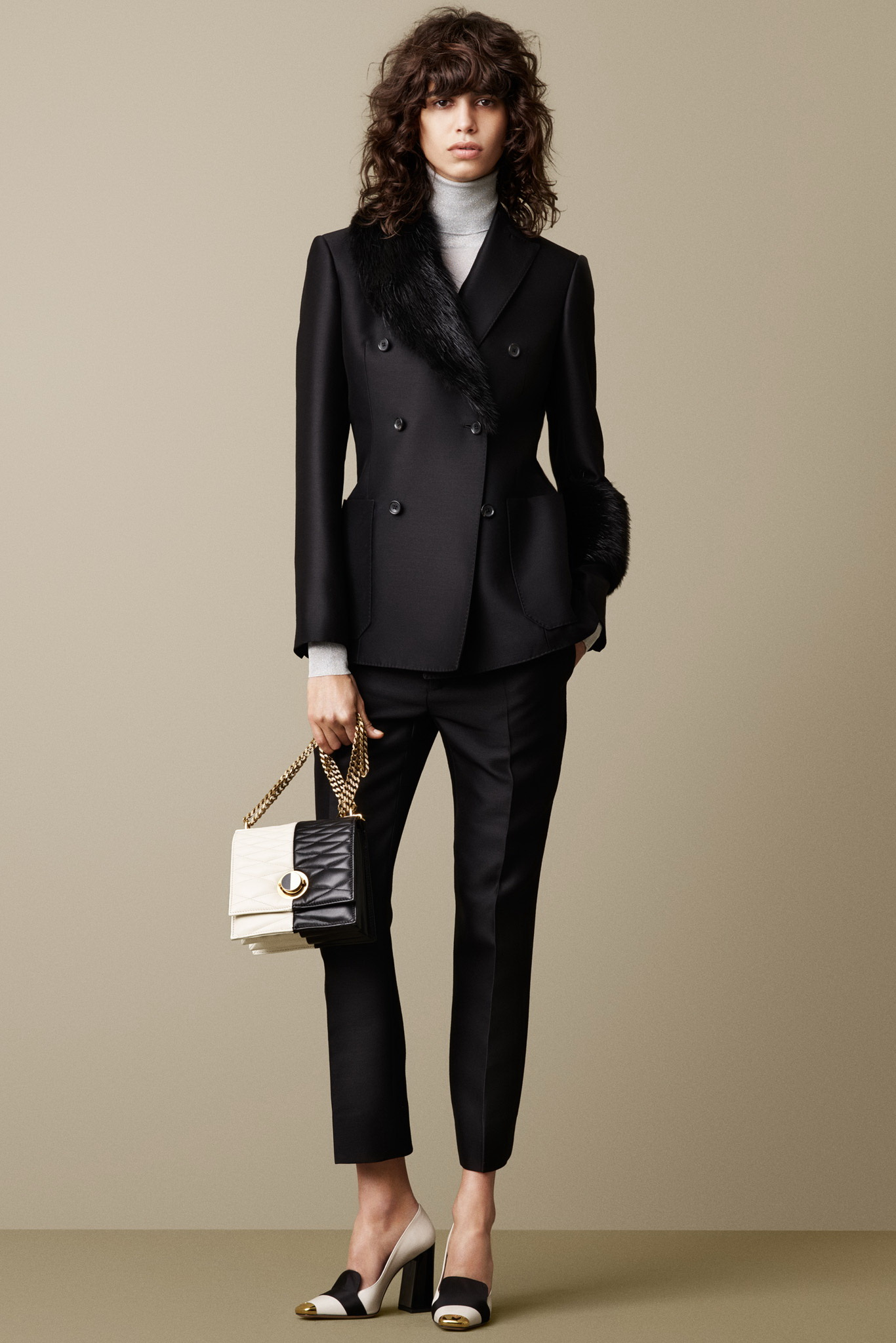 womens black pants suits photo - 2