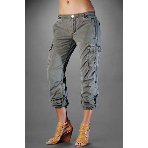 womens bootcut cargo pants photo - 1