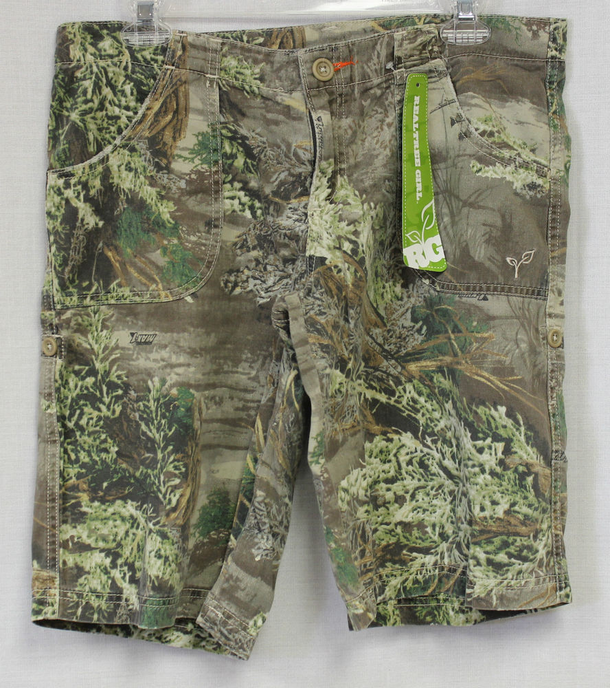 womens camo cargo hunting pants photo - 2