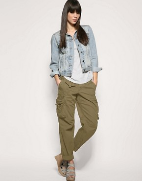 womens camo cargo pants gap photo - 2
