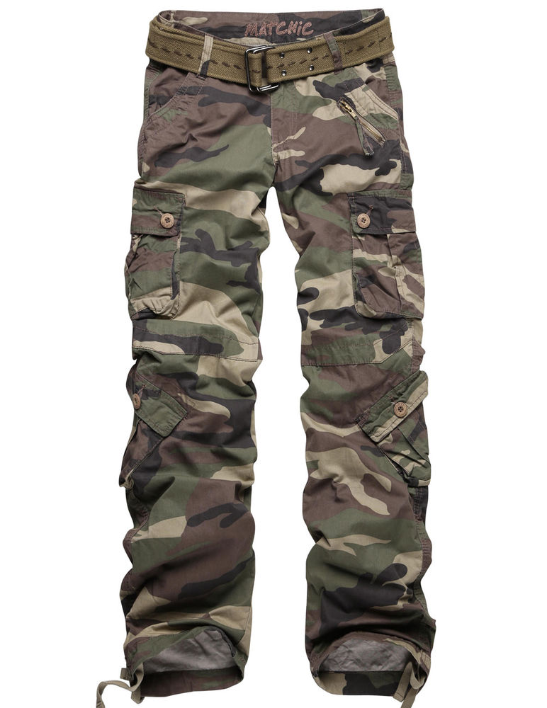 womens camo cargo pants petite photo - 1
