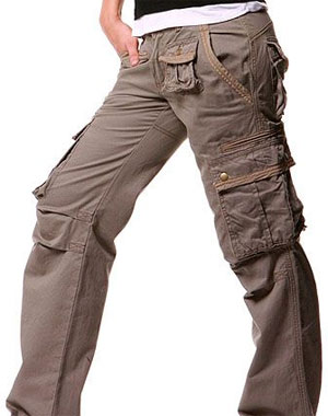womens cargo pants extra long photo - 1