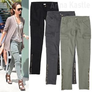 womens cargo pants skinny photo - 1