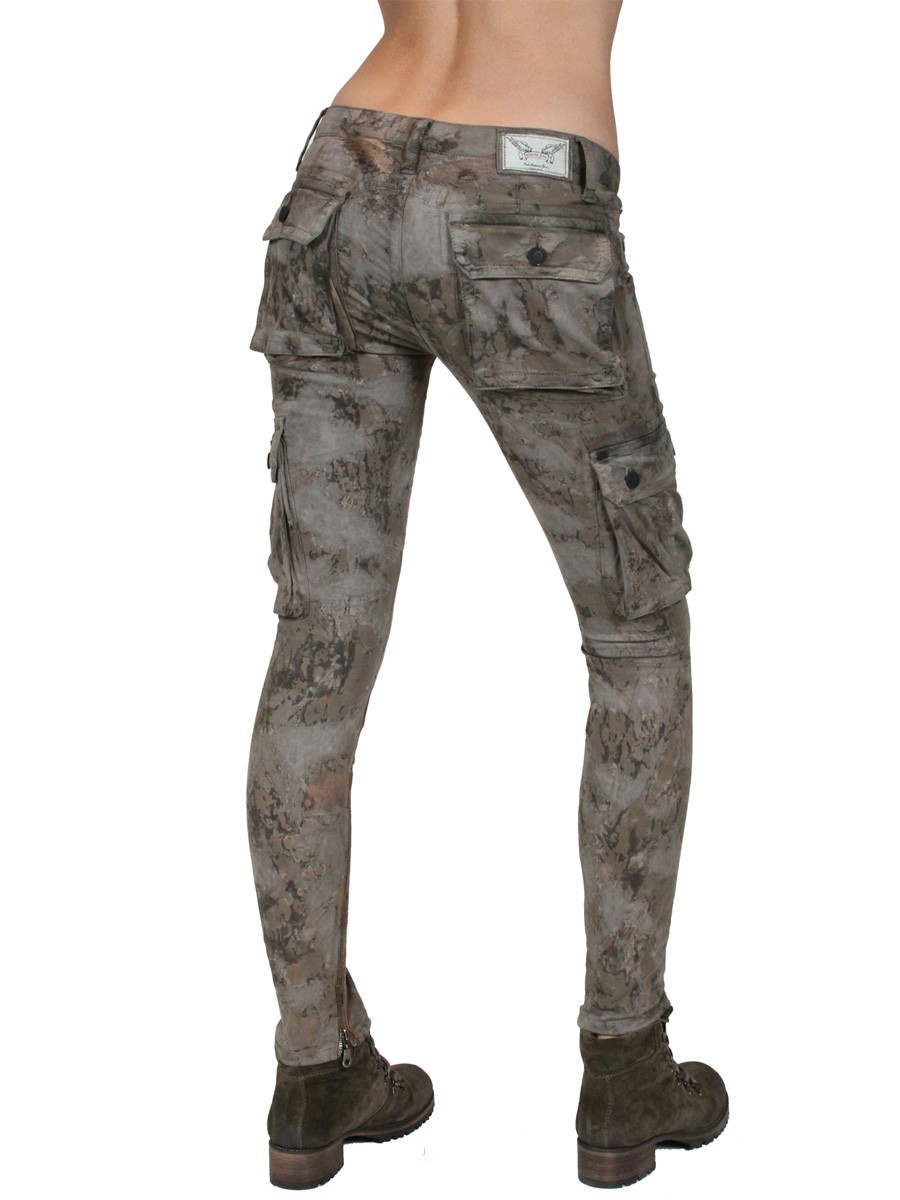 womens cargo pants skinny photo - 2