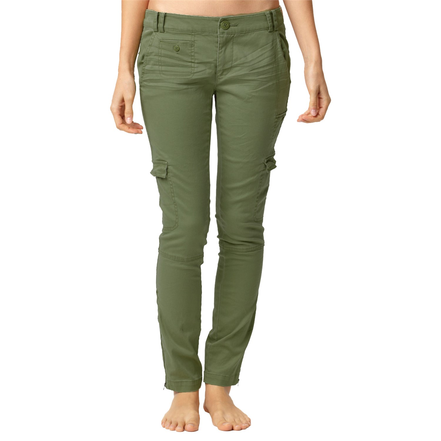 womens cargo pants stretch photo - 2