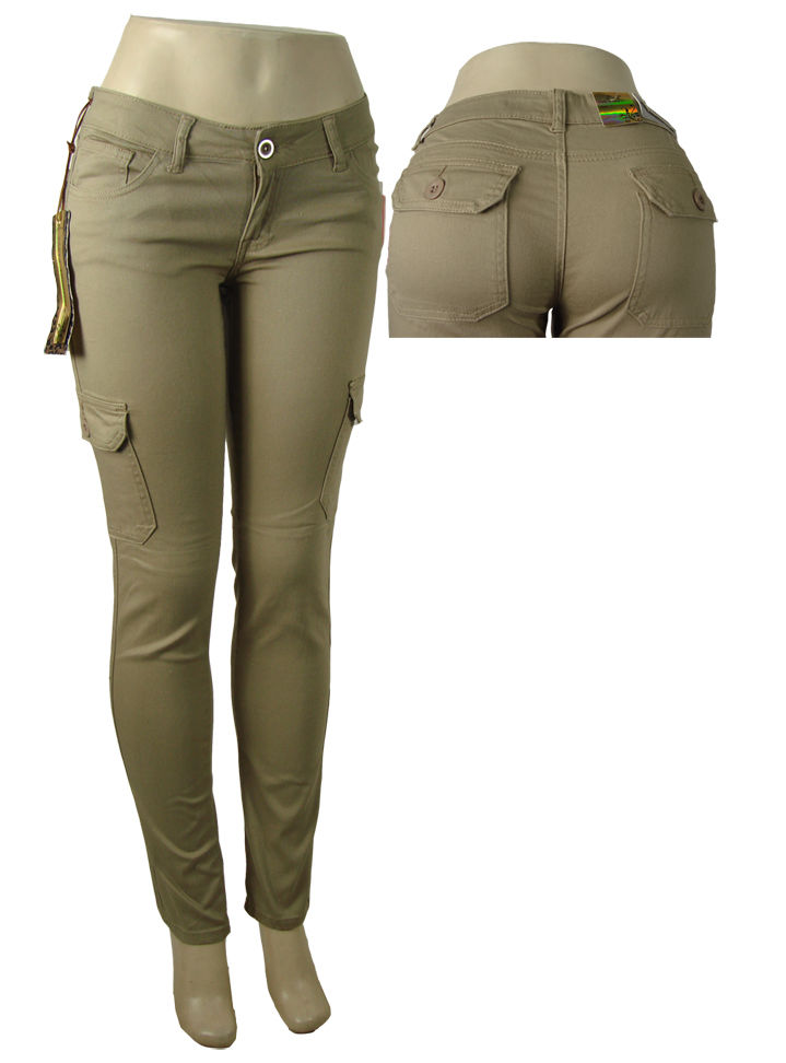 womens cargo pants tan photo - 2