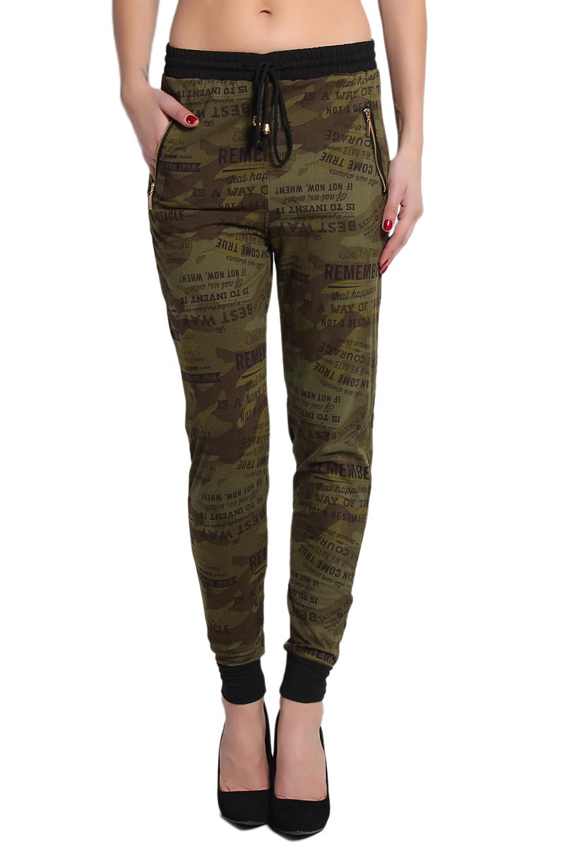 womens cargo pants tapered photo - 2
