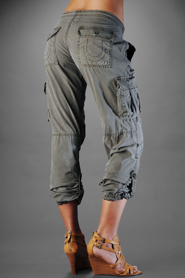 womens cargo pants true religion photo - 1