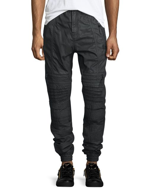 womens cargo pants with elastic ankles photo - 2