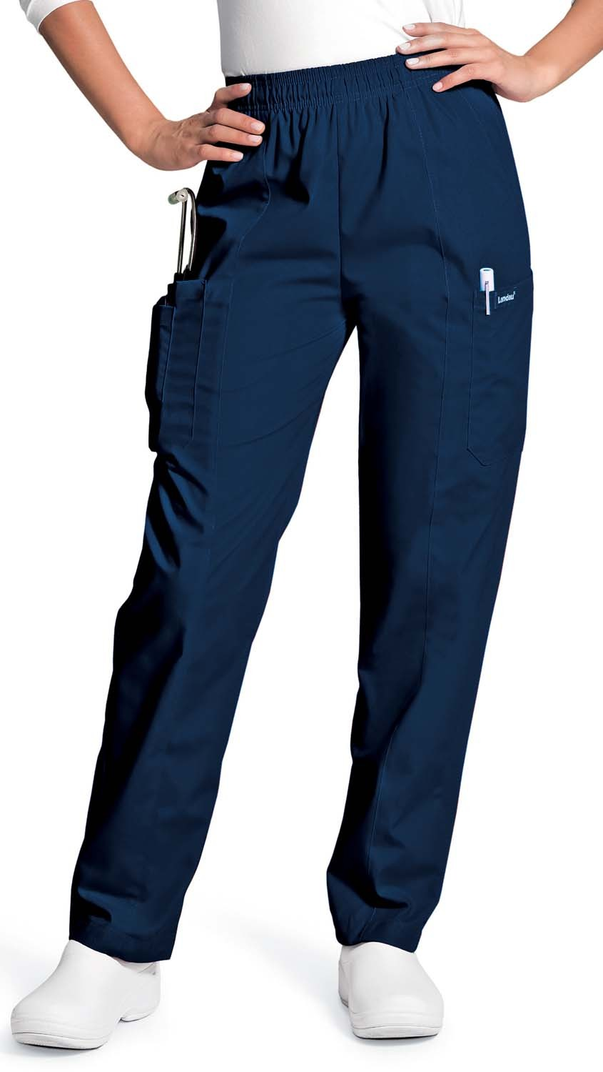 womens cargo pants with elastic waist photo - 1