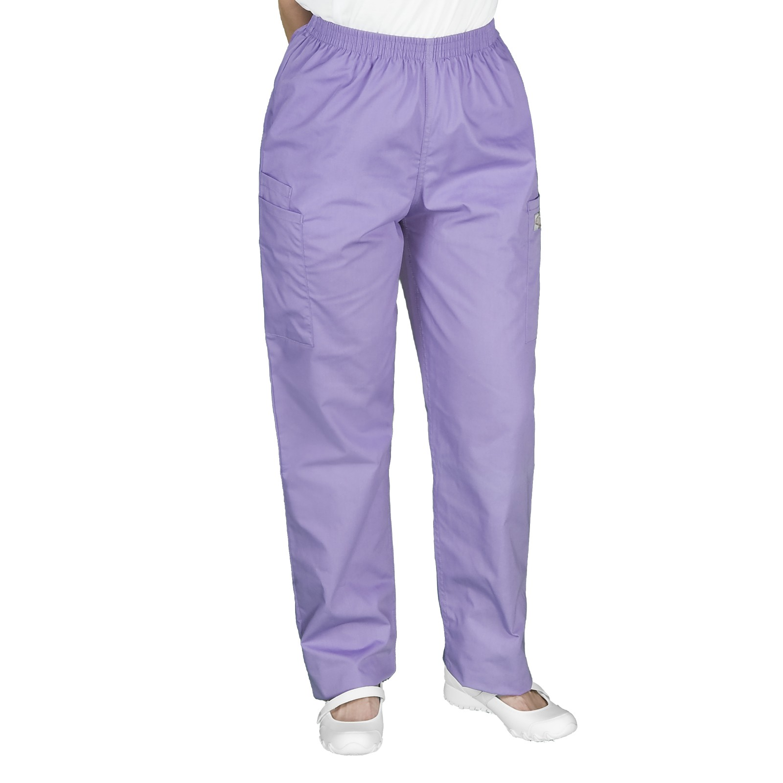 womens cargo pants with elastic waist photo - 2