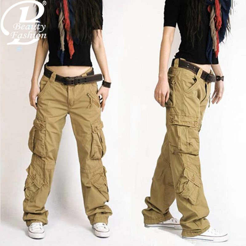 womens cargo pants with lots of pockets photo - 2
