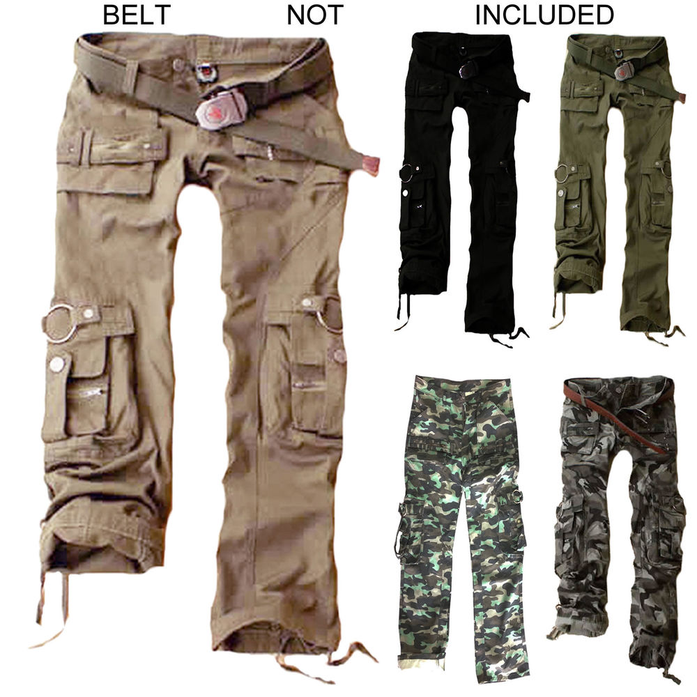 womens cargo pants with pockets photo - 2