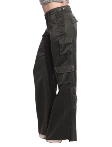 womens cargo pants with side pockets photo - 1