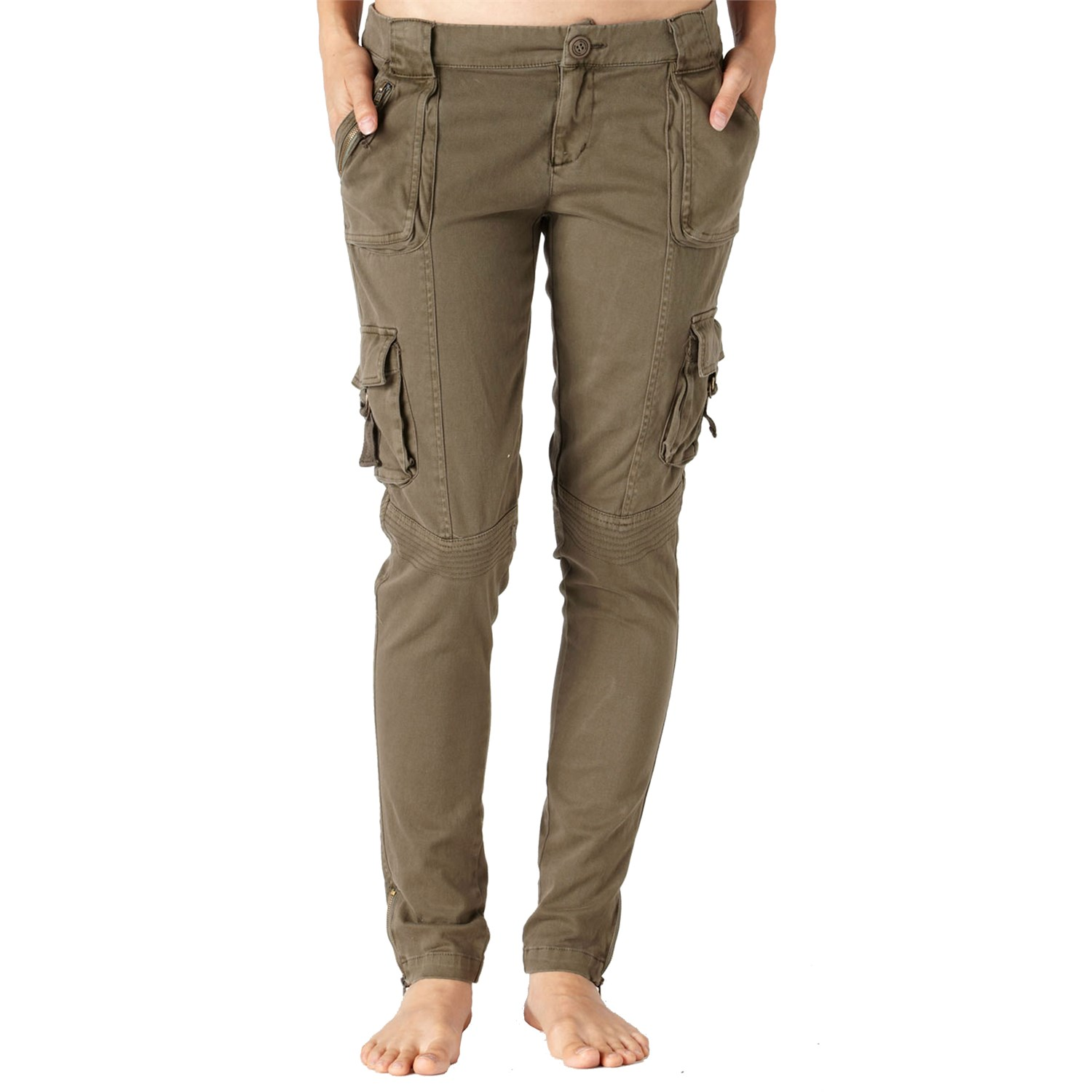 womens cargo pants with zipper pockets photo - 1