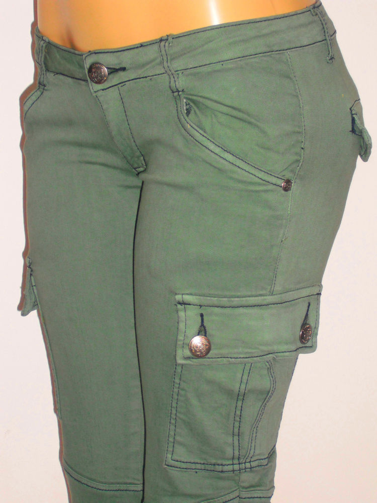 womens cargo pants with zipper pockets photo - 2