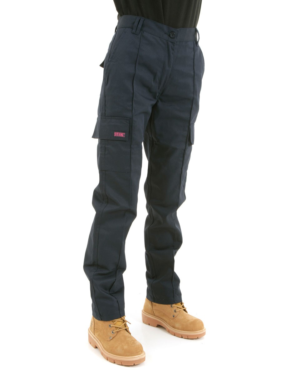 womens cargo work pants photo - 2