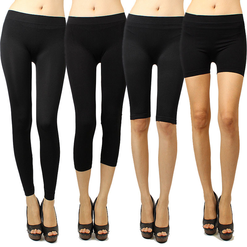 womens exercise stretch pants photo - 1