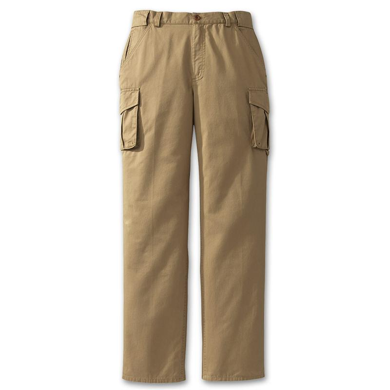 womens khaki cargo pants photo - 1