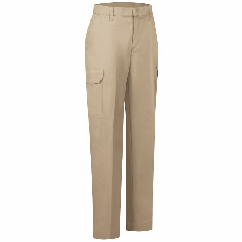 womens khaki cargo pants photo - 2