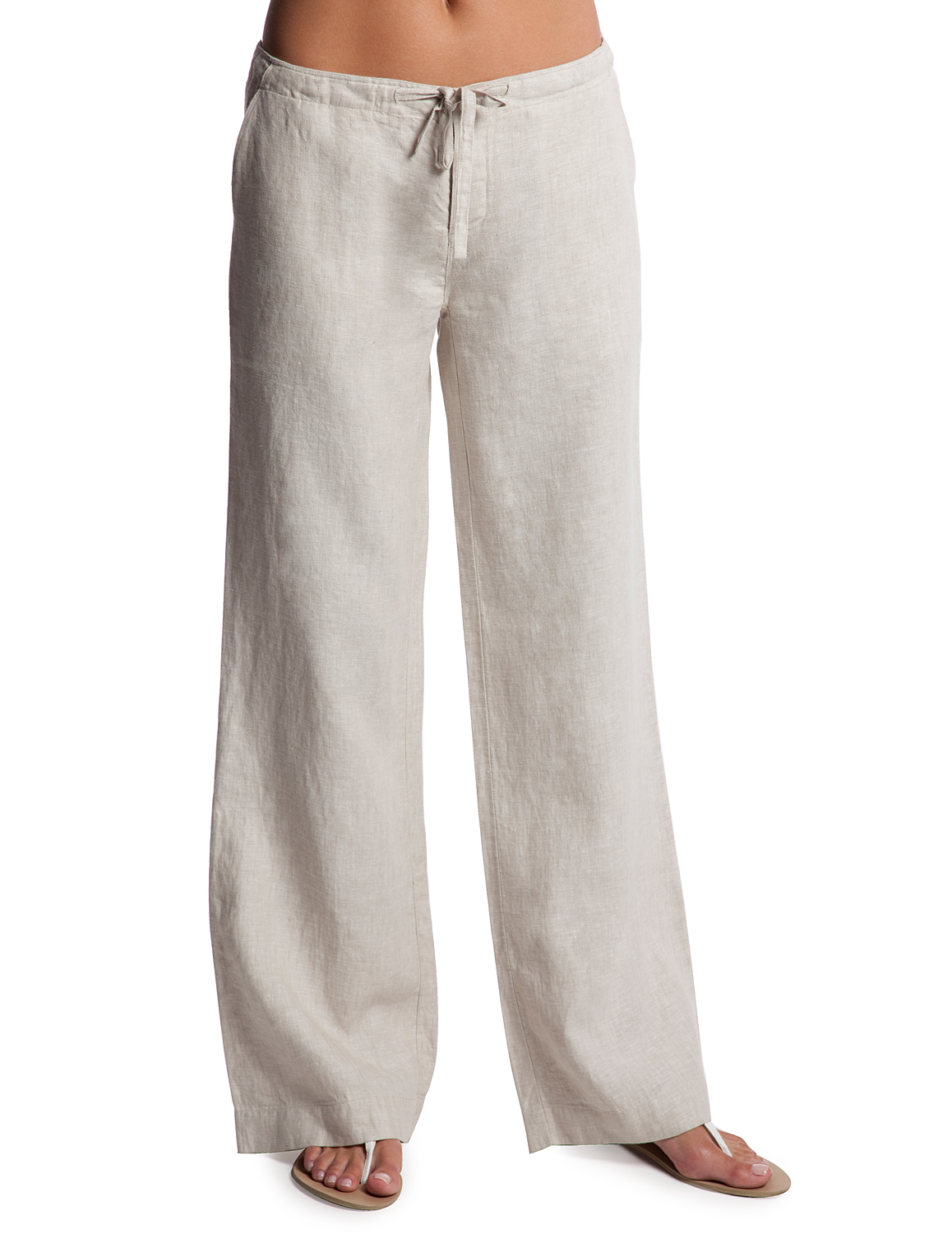 womens linen pants photo - 2