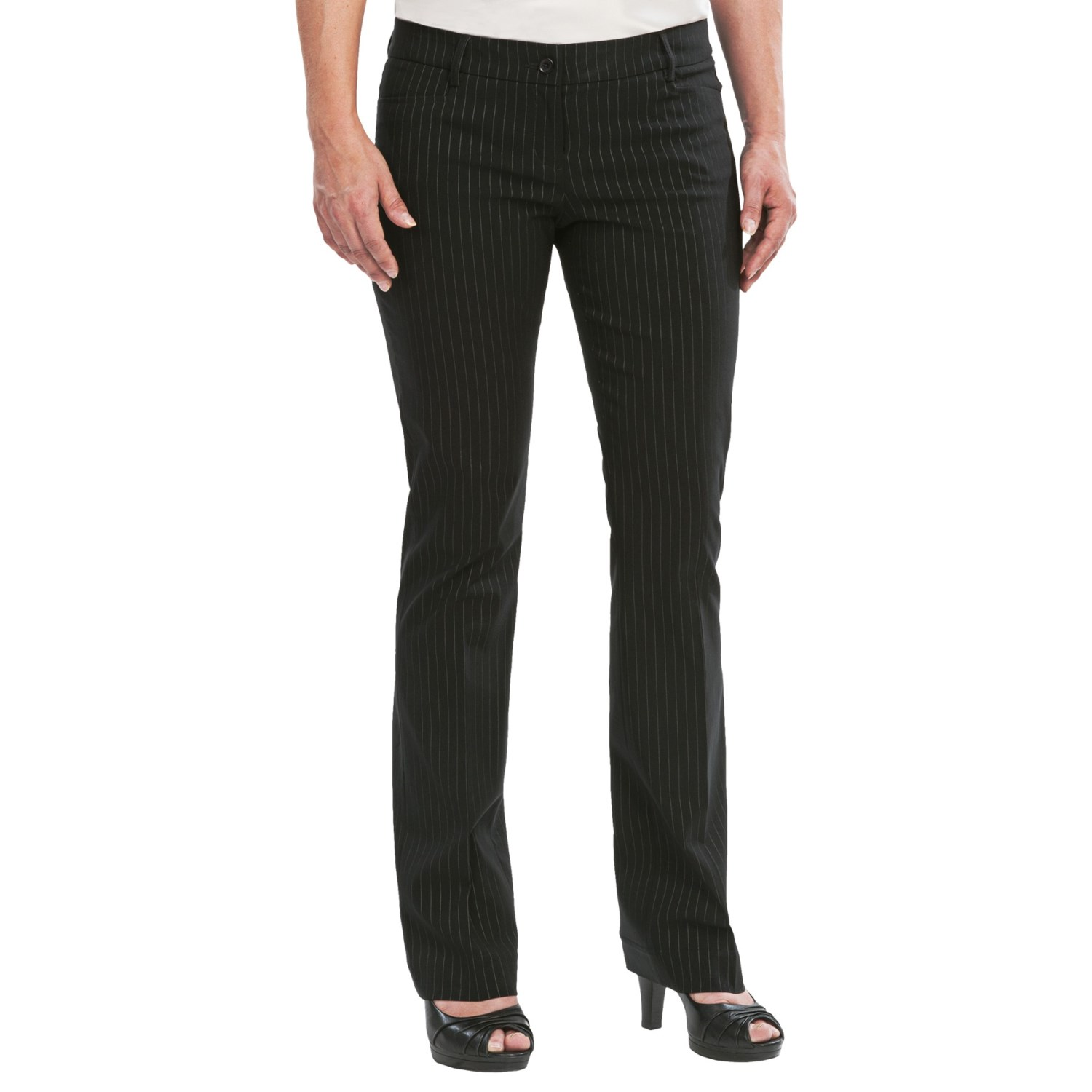 womens pin stripe pants photo - 2