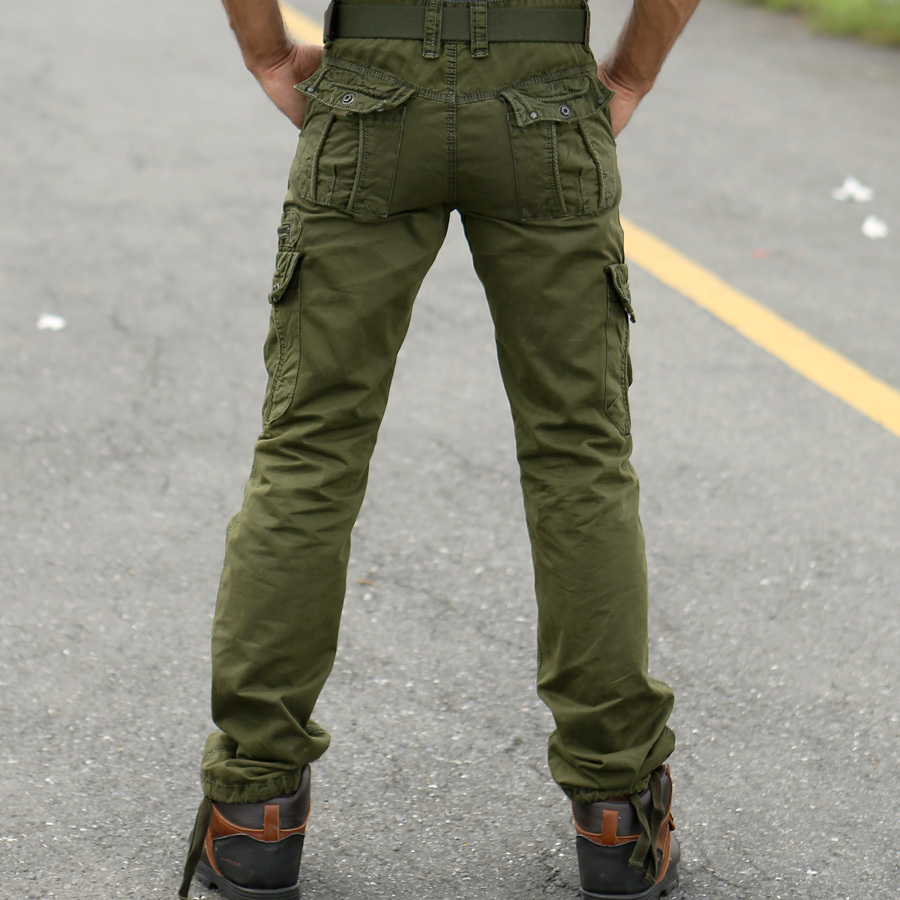 womens red cargo pants photo - 1