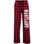 womens red flannel pants photo - 2