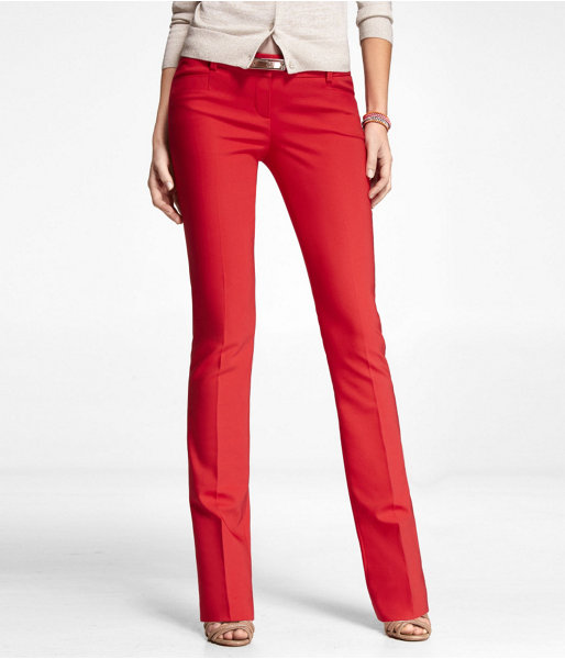 womens red pants photo - 1