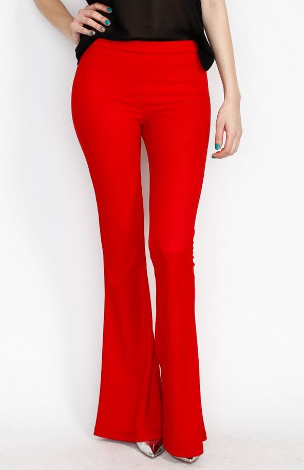 womens red pants photo - 2