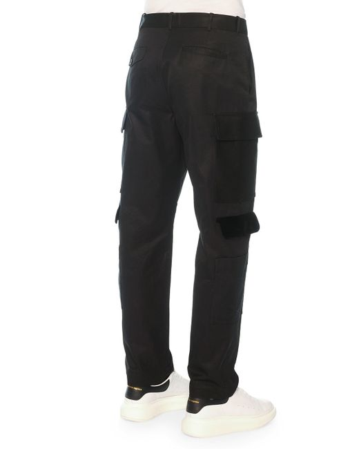 womens velvet cargo pants photo - 1