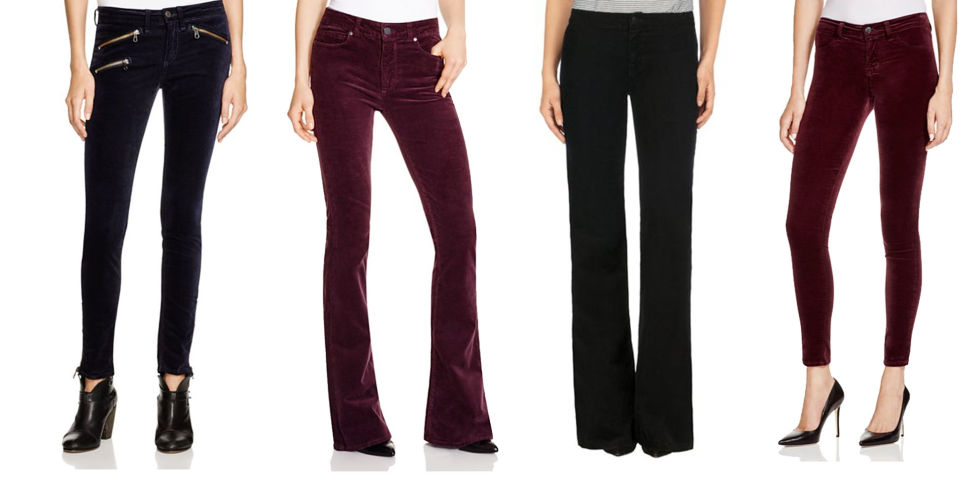 womens velvet pants photo - 2