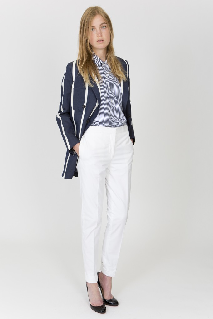 womens white evening pants photo - 1