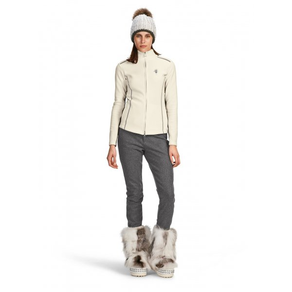 womens white fitted pants photo - 1