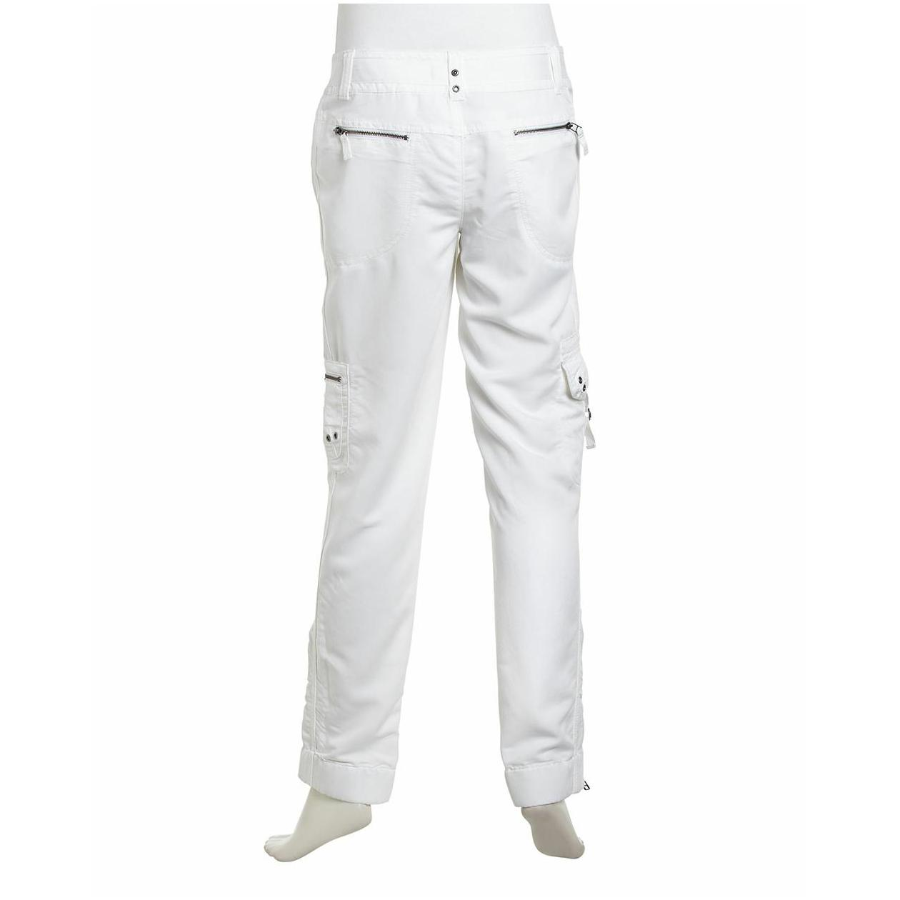 womens white linen pants canada photo - 1