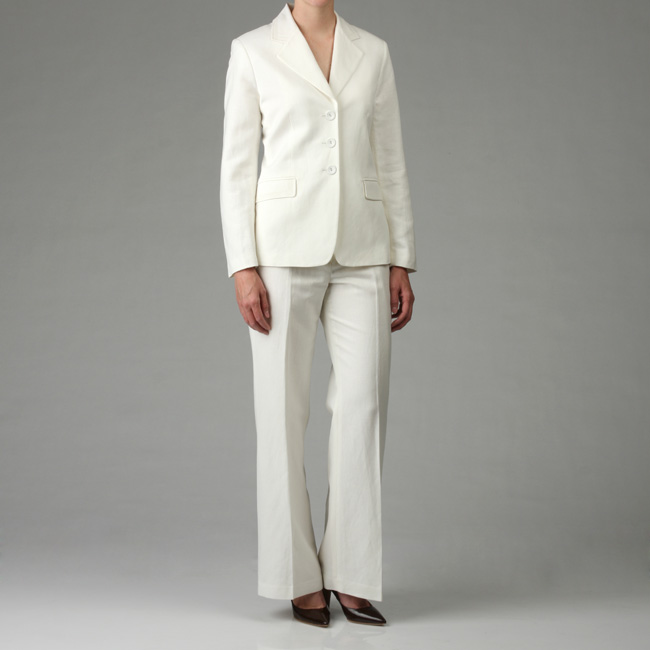 womens white linen pants sale photo - 1